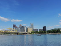 Pittsburgh skyline from the North Shore Royalty Free Stock Photo