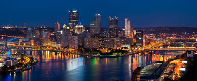Pittsburgh skyline panorama. Stock Images