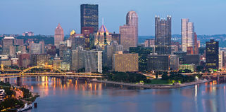 Pittsburgh skyline panorama. Royalty Free Stock Image