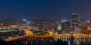 Pittsburgh skyline panorama. Stock Image