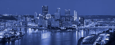 Pittsburgh skyline panorama. Royalty Free Stock Images