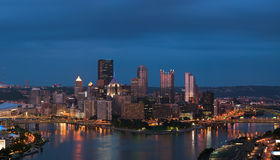 Pittsburgh skyline panorama. Stock Photos