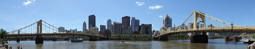 Pittsburgh skyline panoramic Royalty Free Stock Image