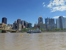 Pittsburgh skyline from PNC Park Royalty Free Stock Photography
