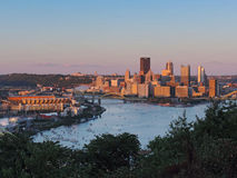 Pittsburgh Skyline at Sunset Royalty Free Stock Photography