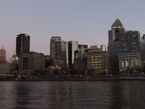 Pittsburgh Skyline at Sunset from PNC Park stock photos