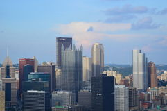 Pittsburgh Skyline View from Duquesne Incline Stock Photos