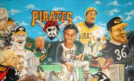 Pittsburgh-Sport-Legenden Wand stockbilder
