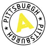 Pittsburgh stamp rubber grunge Stock Photography
