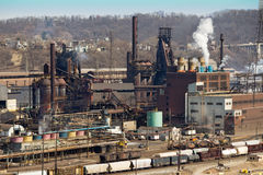 Pittsburgh Steel Mill Close Royalty Free Stock Photography