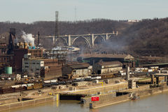 Pittsburgh Steel Mill Far Stock Photos