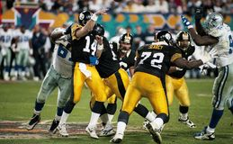 Pittsburgh Steelers OL Leon Searcy #72 arkivbild