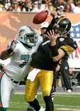 Ben Roethlisberger in action stock photo