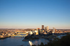 Pittsburgh at sunset Stock Images