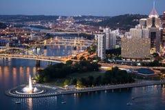 Pittsburgh und Allegheny-Fluss Lizenzfreie Stockfotografie