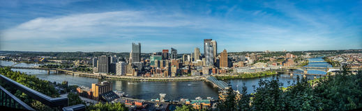 Pittsburgh panorama  Royalty Free Stock Images