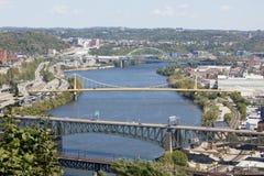 Pittsburgh van de binnenstad, Pennsylvania stock foto's