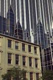 Pittsburgh - vieux et neuf photos stock