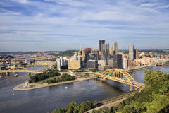 Pittsburgh  - view from the mountain in sunny day Royalty Free Stock Images