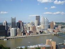Pittsburgh von der Montierung Washington Lizenzfreies Stockbild