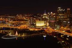 Pittsburgh am Weihnachten Lizenzfreie Stockfotografie