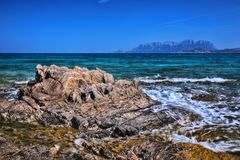 Pittulongu海滩撒丁岛意大利 免版税库存图片
