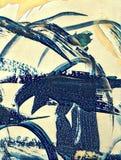 Pittura acrilica astratta royalty illustrazione gratis