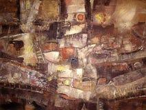 Pittura acrilica astratta Arca del Noah illustrazione di stock