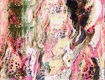 Pittura acrilica astratta con le cellule di colore Immagini Stock Libere da Diritti