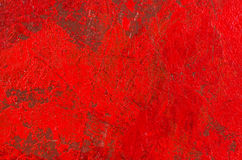 Pittura acrilica astratta rossa Fotografie Stock