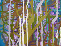 Pittura acrilica di colore di astrattismo sulla tela di backgr variopinto Fotografie Stock