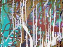 Pittura acrilica di colore di astrattismo sulla tela di fondo variopinto Fotografia Stock Libera da Diritti