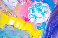 Pittura acrilica disegnata a mano Priorità bassa di arte astratta Pittura acrilica sulla tela Struttura di colore Frammento di ma Fotografie Stock