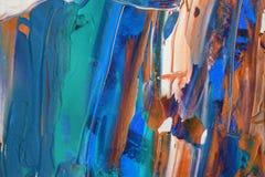 Pittura acrilica disegnata a mano Priorità bassa di arte astratta Pittura acrilica sulla tela Struttura di colore Frammento di ma illustrazione di stock