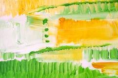 Pittura acrilica disegnata a mano Priorità bassa di arte astratta Pittura acrilica sulla tela Struttura di colore Frammento di ma Fotografie Stock Libere da Diritti