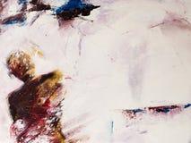 Pittura acrilica moderna di una persona di pensiero Immagine Stock