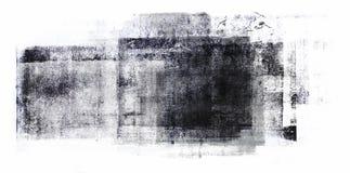 Pittura acrilica rotolata isolata su fondo bianco immagini stock libere da diritti