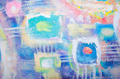 Pittura acrilica variopinta astratta canvas Fondo di lerciume Unità di struttura del colpo della spazzola Priorità bassa artistic royalty illustrazione gratis