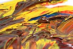 Pittura ad olio Fotografie Stock Libere da Diritti
