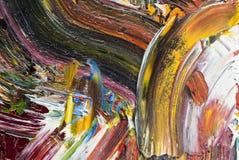 Pittura ad olio come fondo Immagine Stock Libera da Diritti
