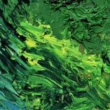 Pittura ad olio verde per fondo immagine stock