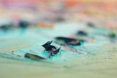 Pittura artistica espelsa dell'olio - vista vicina Immagini Stock Libere da Diritti