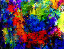 Pittura astratta Fotografie Stock