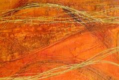 Pittura astratta arancione Immagine Stock