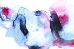 Pittura astratta con i punti blu e rosa luminosi della pittura fotografia stock