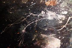 Pittura astratta con la struttura confusa e macchiata Effetto di colore e collage del computer Fotografia Stock