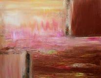 Pittura astratta contemporanea calda Fotografia Stock