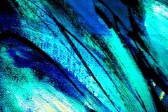 Pittura astratta dall'olio su tela, illustrazione, fondo Fotografie Stock