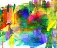 Pittura astratta del guasch royalty illustrazione gratis