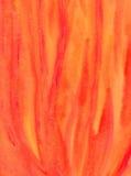 Pittura astratta del watercolour - fiamme del fuoco Immagini Stock Libere da Diritti